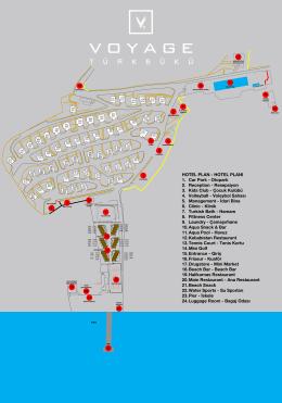 HOTEL PLAN - HOTEL PLANI 1. Car Park - Otopark 2