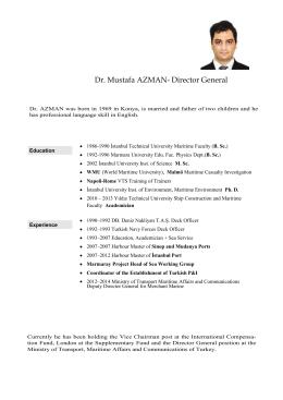 Dr. Mustafa AZMAN- Director General