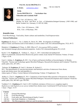 Curriculum vitae - CU Department of Food Engineering