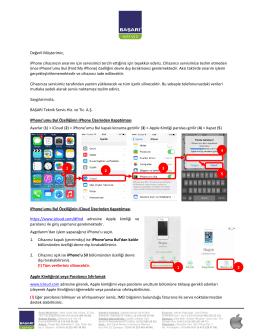 iPhone Bilgilendirme - Başarı Teknik Servis