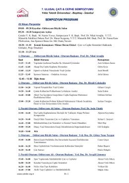 Sempozyum Programı 17 03 2014 R4