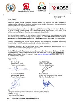 türk-makedonya iş forumu