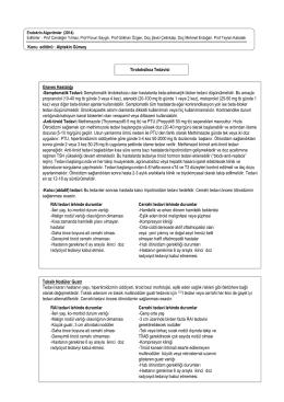 Semptomatik tirotoksikozu olan hastalarda beta