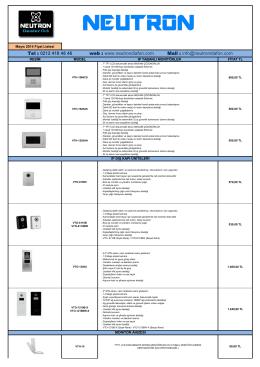 Tel : 0212 418 46 46 web - Neutron Diafon Sistemleri