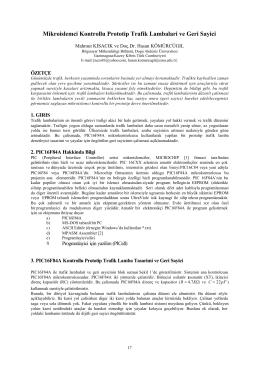 Mikroislemci Kontrollu Prototip Trafik Lambalari ve Geri Sayici