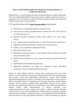 o Program Yeterlilikleri - Erzurum Teknik Üniversitesi