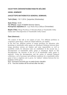 HACETTEPE MATHEMATICS GENERAL SEMINAR