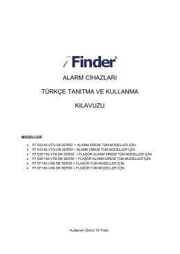 alarm cġhazları türkçe tanıtma ve kullanma kılavuzu