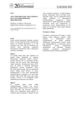 p-39 akut iskemik inme tedavisinde 2 olgu ile dekompressif