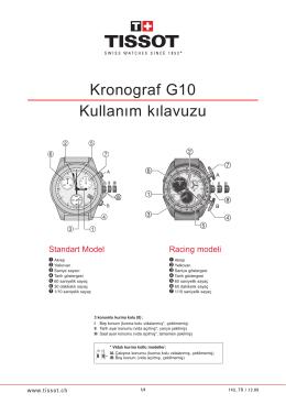 Kronograf G10 Kullanım kılavuzu