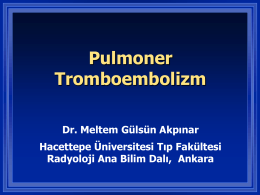 Venöz Tromboembolizm