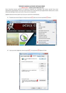 duzce.edu.tr uzantılı e-posta kullanıcıları için