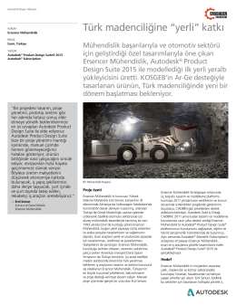 """Türk madenciliğine """"yerli"""" katkı"""