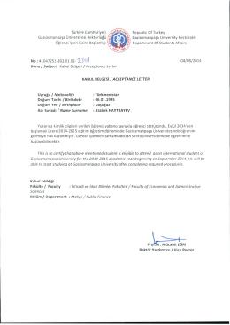 Türkiye Cumhuriyeti Gaziosmanpaşa Üniversitesi Rektörlüğü ,Q