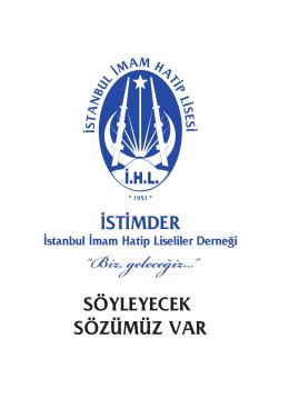 3-istimder sanat - İstanbul İmam Hatip Lisesi Mezunları ve
