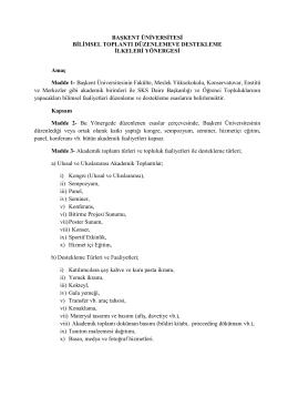B.Ü. Bilimsel Toplantı Düzenleme ve Destekleme İlkeleri Yönergesi