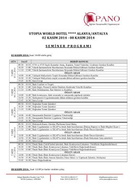 utopıa world hotel ***** alanya/antalya 02 kasım 2014