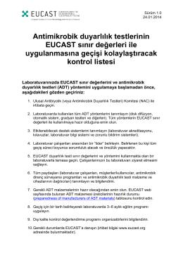 Checklista för att lära ut viktiga moment i EUCAST lappdiffusionsmetod