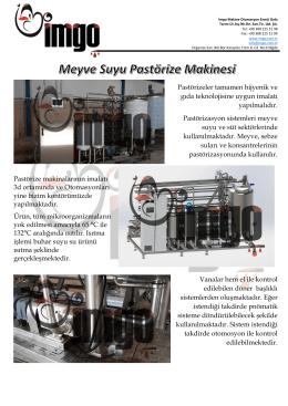 pastorize teknik bilgiler
