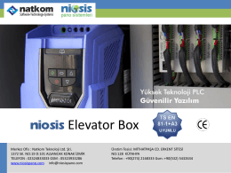 PowerPoint Sunusu - Niosis Pano Sistemleri