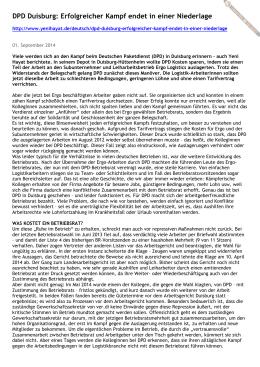 Artikel in Yeni Hayat-Neues Leben vom 01. September 2014