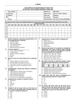 ISL223 İstatistik-I Örnek Arasınavı-1