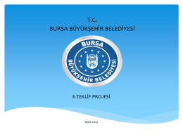 E-TEKLİF PROJESİ - Bursa Büyükşehir Belediyesi