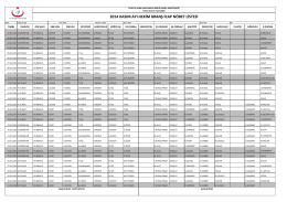 2014 kasım ayı hekim branş icap nöbet listesi