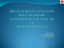 bilgi ve belge yönetimi bölümlerinde elektronik