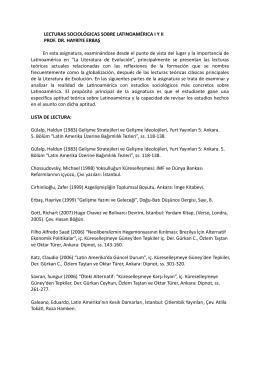 LECTURAS SOCIOLÓGICAS SOBRE LATINOAMÉRICA I Y II PROF