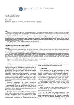 Yeşim TÜTÜN - KMÜ Sosyal ve Ekonomik Araştırmalar Dergisi