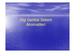 Dişi Genital Sistem Anomalileri