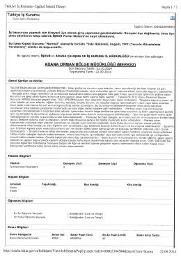 Tiirkiye ig Kurumu Stnav Kategorisi Kamu Personel Srnavlarr KPSS