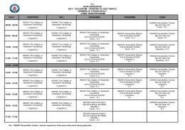 4.sınıf ders programı