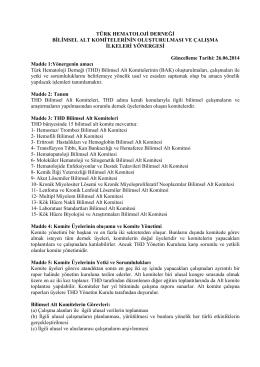 Yönerge için tıklayınız. - Türk Hematoloji Derneği
