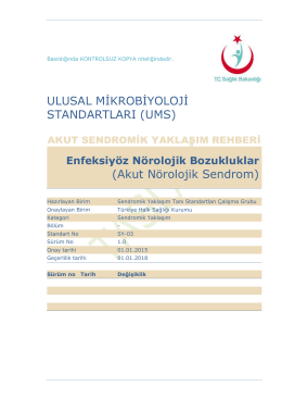 Akut Nörolojik Sendrom - Türkiye Halk Sağlığı Kurumu