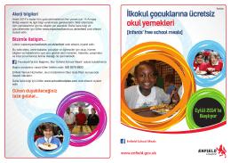 İlkokul çocuklarına ücretsiz okul yemekleri