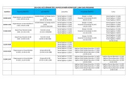 2014-2015 güz dönemi sivil havacılık kabin hizmetleri 1.sınıf ders