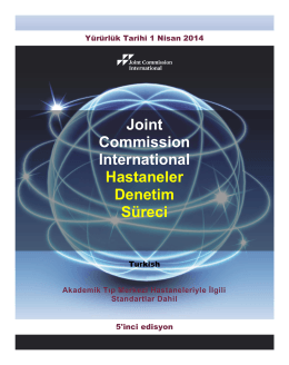 Joint Commission International Hastaneler Denetim Süreci