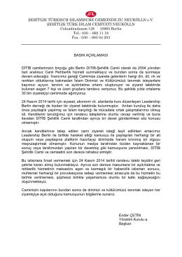 ŞEHİTLİK TÜRKISCH-ISLAMISCHE GEMEINDE ZU NEUKÖLLN eV