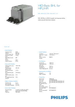 Product Leaflet: BHL 400 BC2-151/160