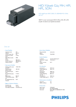 Product Leaflet: BHD HP-317
