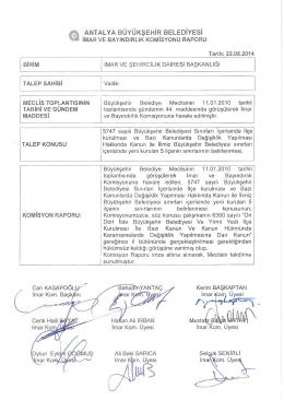 Gündemin 14.Maddesi - Antalya Belediyesi