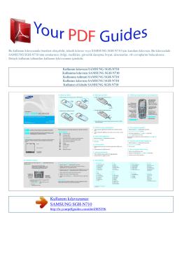 Kullanma talimati SAMSUNG SGH-N710