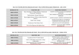 2014 TD Mart-Nisan Dönemi Sonuçları
