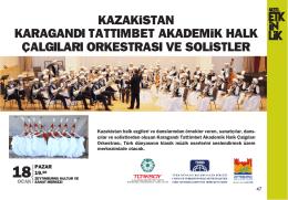 kazakistan karagandı tattımbet akademik halk çalgıları orkestrası ve