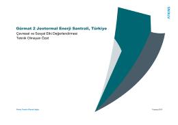 Gürmat 2 Jeotermal Enerji Santrali, Türkiye