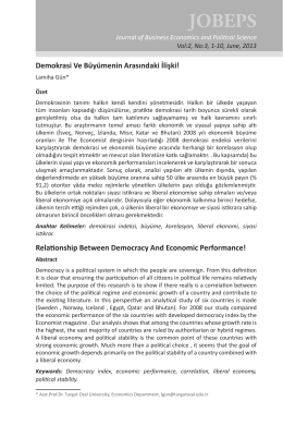 Tam Metin/Full paper - Journal of Business Economics and Political