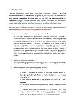 Erasmus öğrencileri - Hacettepe Üniversitesi Avrupa Birliği Ofisi