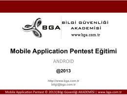 bga_7_mobil pentest Örnek not
